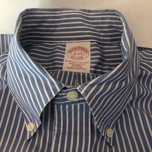 Brooks Brothers Men's Blue Stripe Shirt 16-34/35